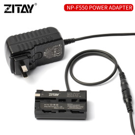 ZITAY Camera Adapter NP-F550 Power Supply