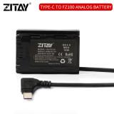 ZITAY USB C to NP-FZ100 Dummy Battery Power Adapter