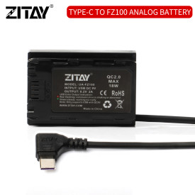 ZITAY USB Type C to FZ100 Dummy Battery