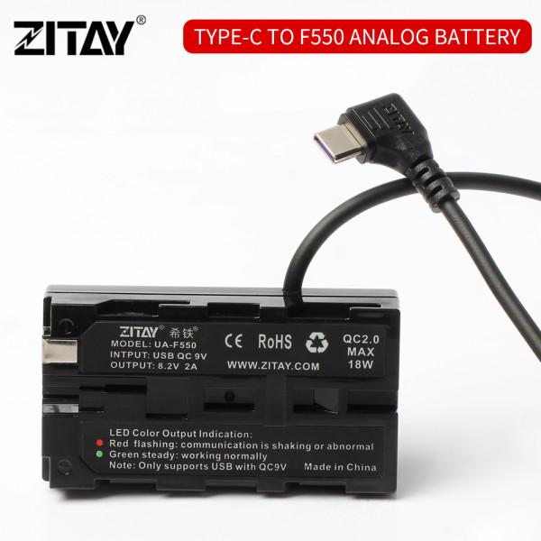 ZITAY USB C to Sony NP-F550 Dummy Battery