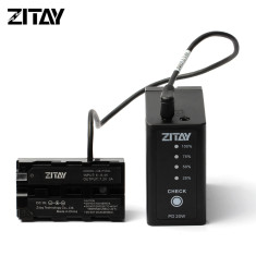 ZITAY Battery Sony NP-F970-980-F550 with Dual DC Ports and USB C Ports Fast Charging Compatible with Sony NP-F930 F950 F960 F550 F530 F330 F570 CCD-SC55 TR516 TR716 TR818 TR910 TR917 etc