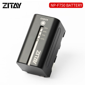ZITAY NP-F750 Lithium-Ion Battery Pack (7.2V, 6400mAh) for Sony NP-F550 NP-F570 NP-F750 NP-F770 NP-F930 NP-F950 NP-FM55H NP-FM500H NP-QM71 NP-QM91 NP-QM71D Camera