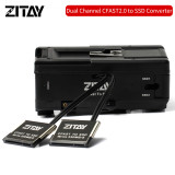 ZITAY CCTECH CFast 2.0 Dummy Cards to 2.5   Sata3.0 4TB SSD Adapter + V Mount Plates for Blackmagic URSA MINI 4K 4.6K