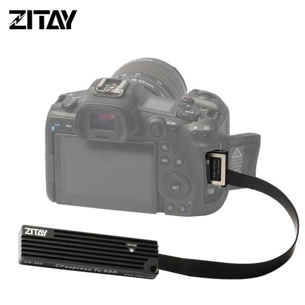 ZITAY CS-305 CFexpress Type B to SSD Convertor Adapter XQD CFE CFX Replacer Substitute Nikon Z6 Z7 D5 D6 D850 D500 PANASONIC DC-S1/S1R Canon EOS 1DX MarkIII R5 C500 MarkII