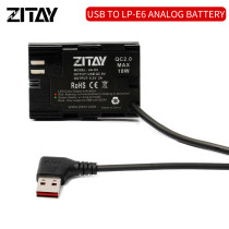 ZITAY USB A to LP-E6 Dummy Battery