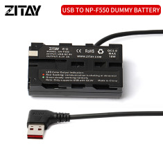 ZITAY USB to NP-F550 Dummy Battery