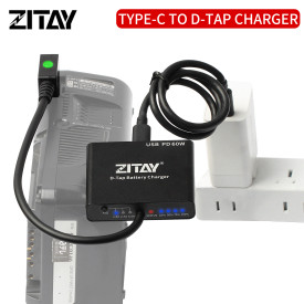 ZITAY VMount Gold Mount Anton Bauer Battery Charger D-Tap to USB C PD Fast Charger