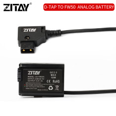 ZITAY D-TAP to NP-FW50 Dummy Battery for Sony Sony A6400 A6100 A3000 A5000 A6500 A6000 A73/A7R3/A7S3/Fx3