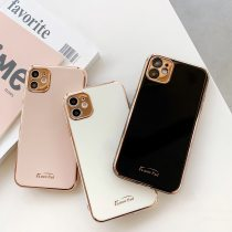 Luxury Gold Plated Electroplated Case for iPhone 11 Pro Max 8 Plus 7 xr xs x Silicone Camera Lens Protection 11 TPU Cover Cases