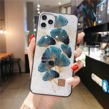 Luxury Gold Foil Silicon Case For iPhone 11 Pro Xs Max SE Glitter Quicksand Ginkgo Soft Cover For iPhone X XR 6 6s 7 8 Plus Case