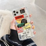 Retro Bar Code Label Phone Cases For iPhone 11 Pro Max X Xs Max 7 8 Plus XR Soft Airbag TPU Back Cover Case For iPhone 11Pro MAX