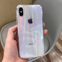 Gradient Rainbow Laser Cases For iPhone X XS Max XR Transparent Soft Fundas For iPhone 11 XR 6S 7 8 Plus 12 Clear Acrylic Covers
