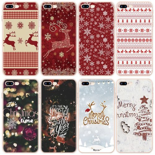 Case For iPhone 11 12 Pro XS Max 6 6S 7 8 Plus X XR 5 5S Case For iphone 7 Plus Christmas New Year Deer TPU For iPhone SE 2 2020