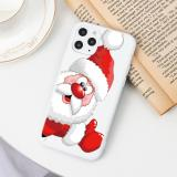 Cartoon Merry Christmas For iPhone 11 12 Pro Max Mini 7 8 6 6S Plus 5 5S Santa Claus For iPhone XR X XS Max Phone Case TPU Cover