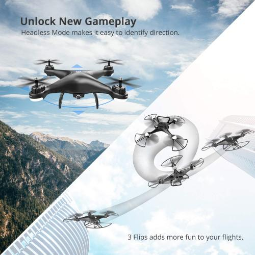 HS110D FPV RC Drone with 1080P HD Camera Live Video 120°wide-Angle WiFi Quadcopter