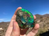 Ethiopian Opal Specimen, Raw Opal, Rough Opal, Crystal Opal, Ethiopian Hydrophane Opal, 120.2 grams (4.2 oz.)