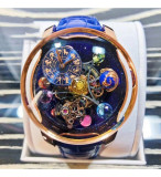 Cosmic planet world time watch