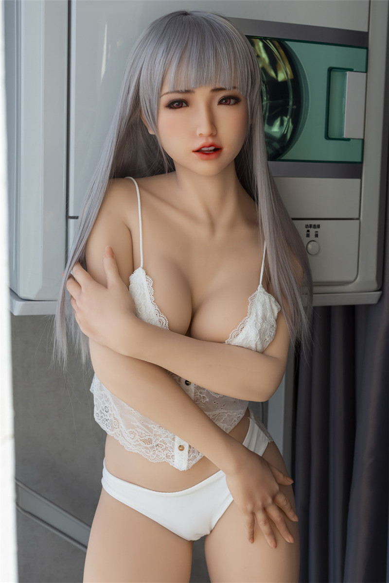 Sanhui 160cm/5.25ft C-cup Seamless Neck Silicone Ultra Realistic Sex Doll #23
