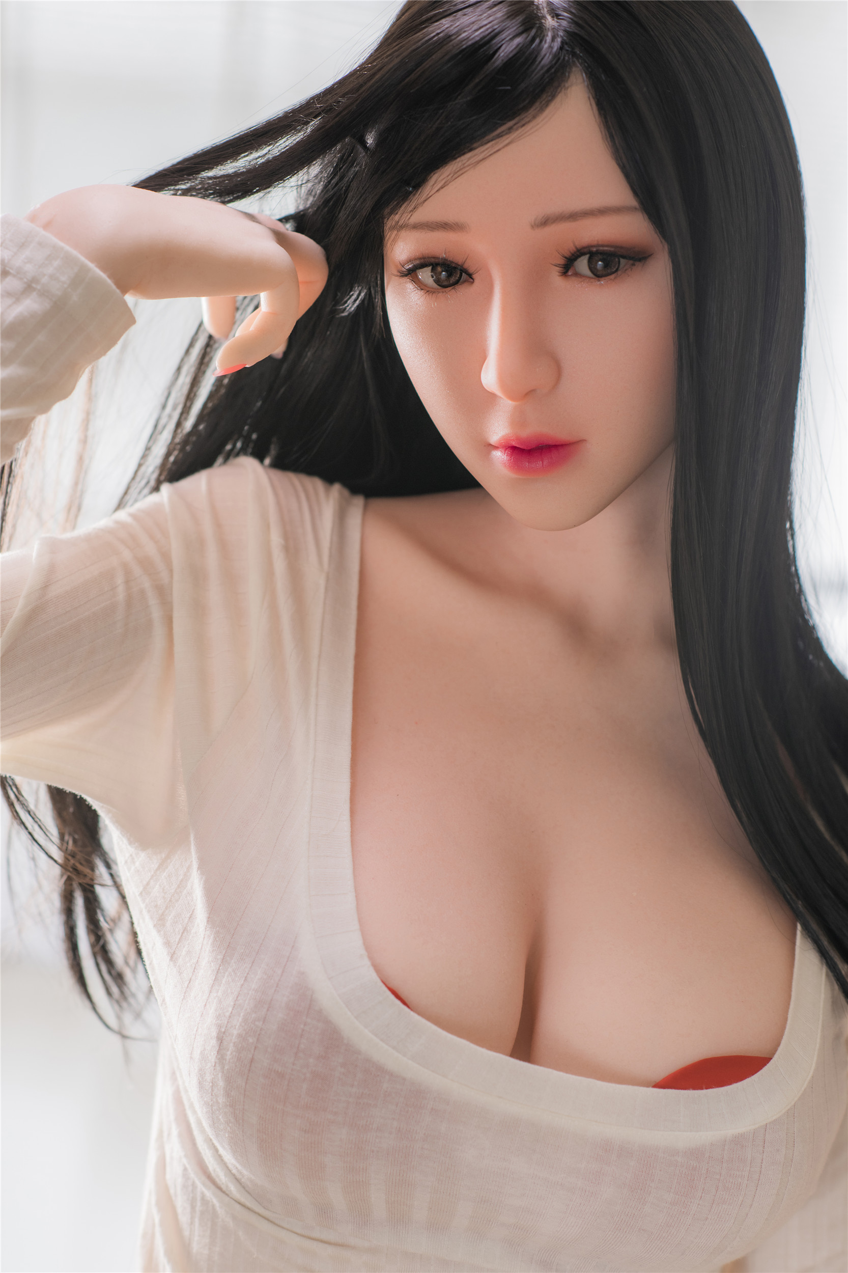 Art Doll Silicone Sex Doll 162cm/5.3ft C-cup with Head A2