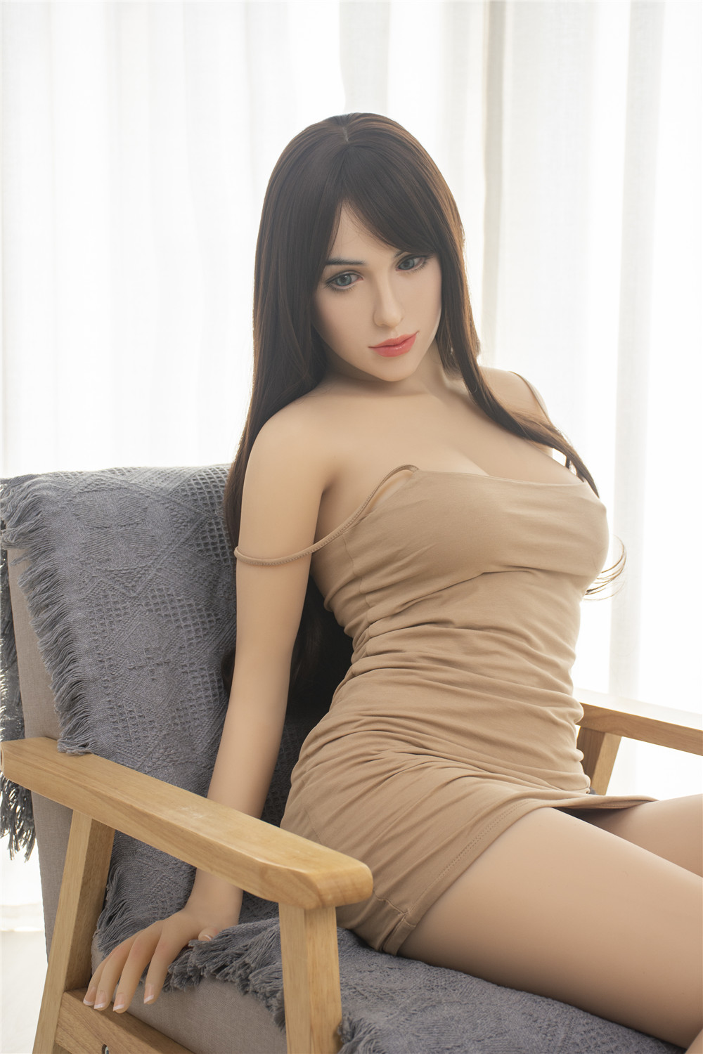 ZELEX Silicone Doll 155 cm(4.09 ft) Full Size Lifelike Sex Doll with #G07 Head