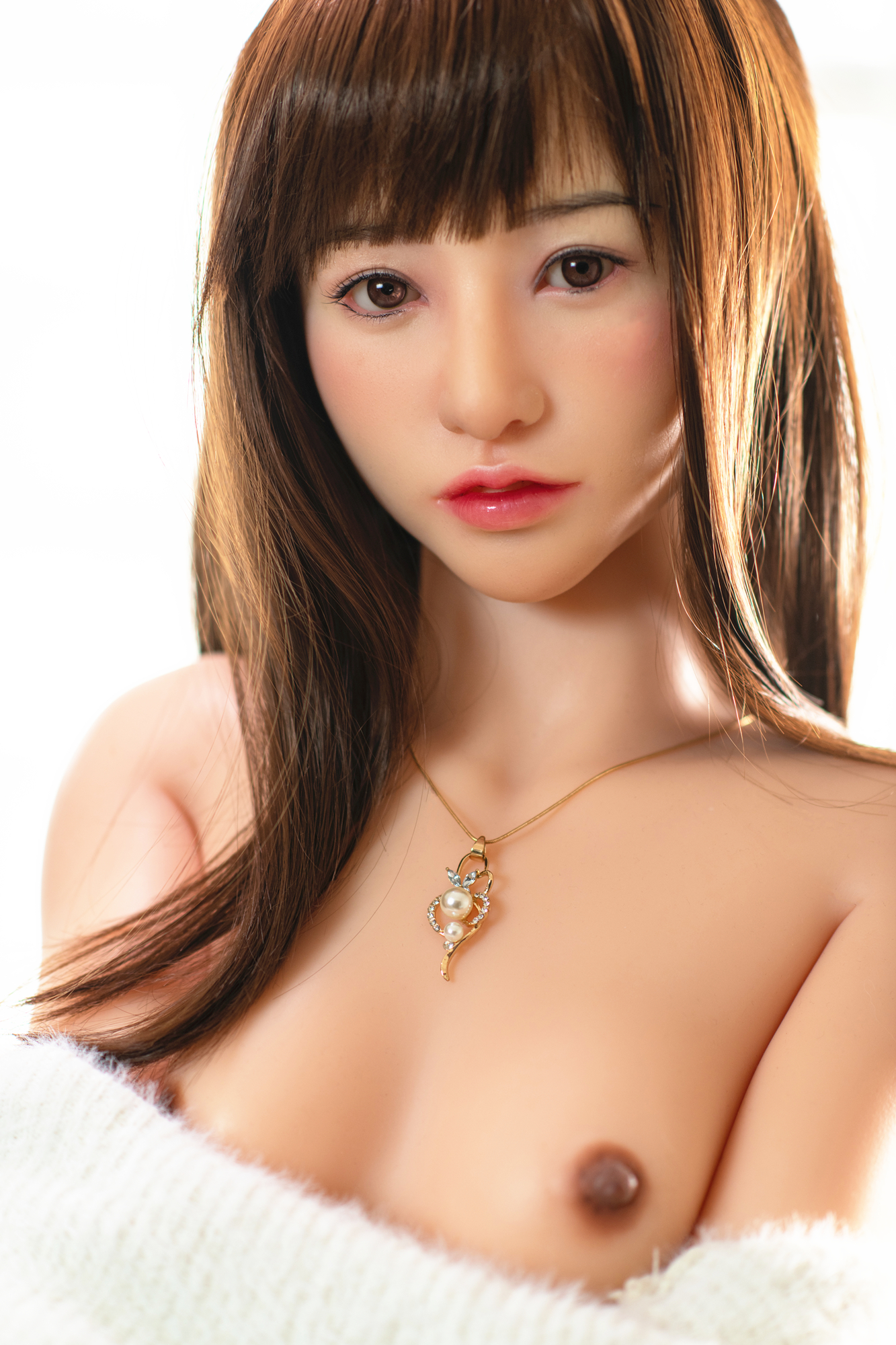 For Top 100 Customers 【Amatsuka Moe 's Autograph on Formal Product Certificate】Supervised by Moe Amatsuka AV Actress Silicone Love Doll with RS Class Makeup-Head by Sino Factory  157cm/5.15ft  31kg