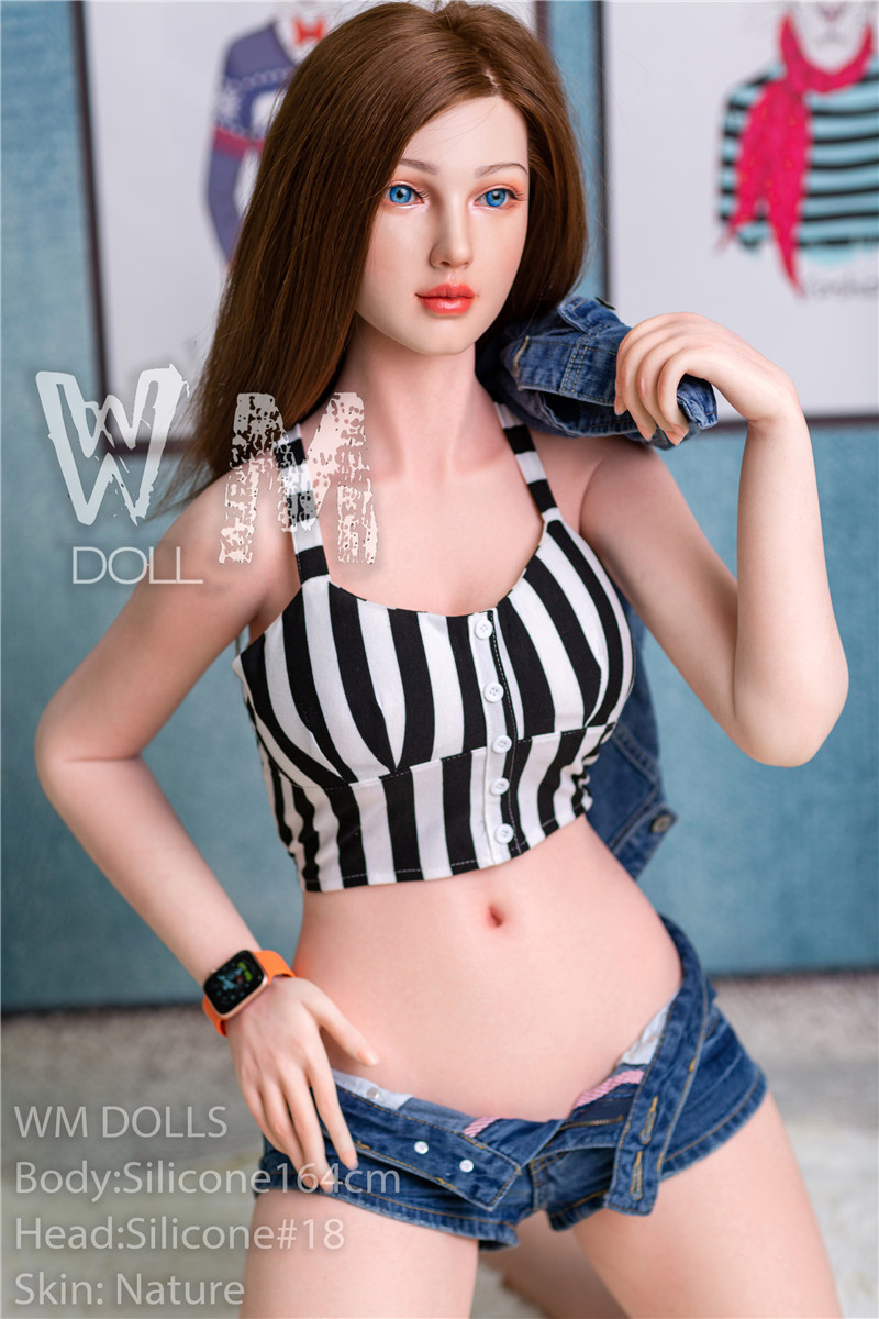 WM Doll Silicone Material Love Doll 164cm/5ft4 D-Cup Doll with Silicone Head #18
