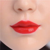 ZELEX Full silicone sex doll 147cm A-cup # G53 head with Realistic body makeup