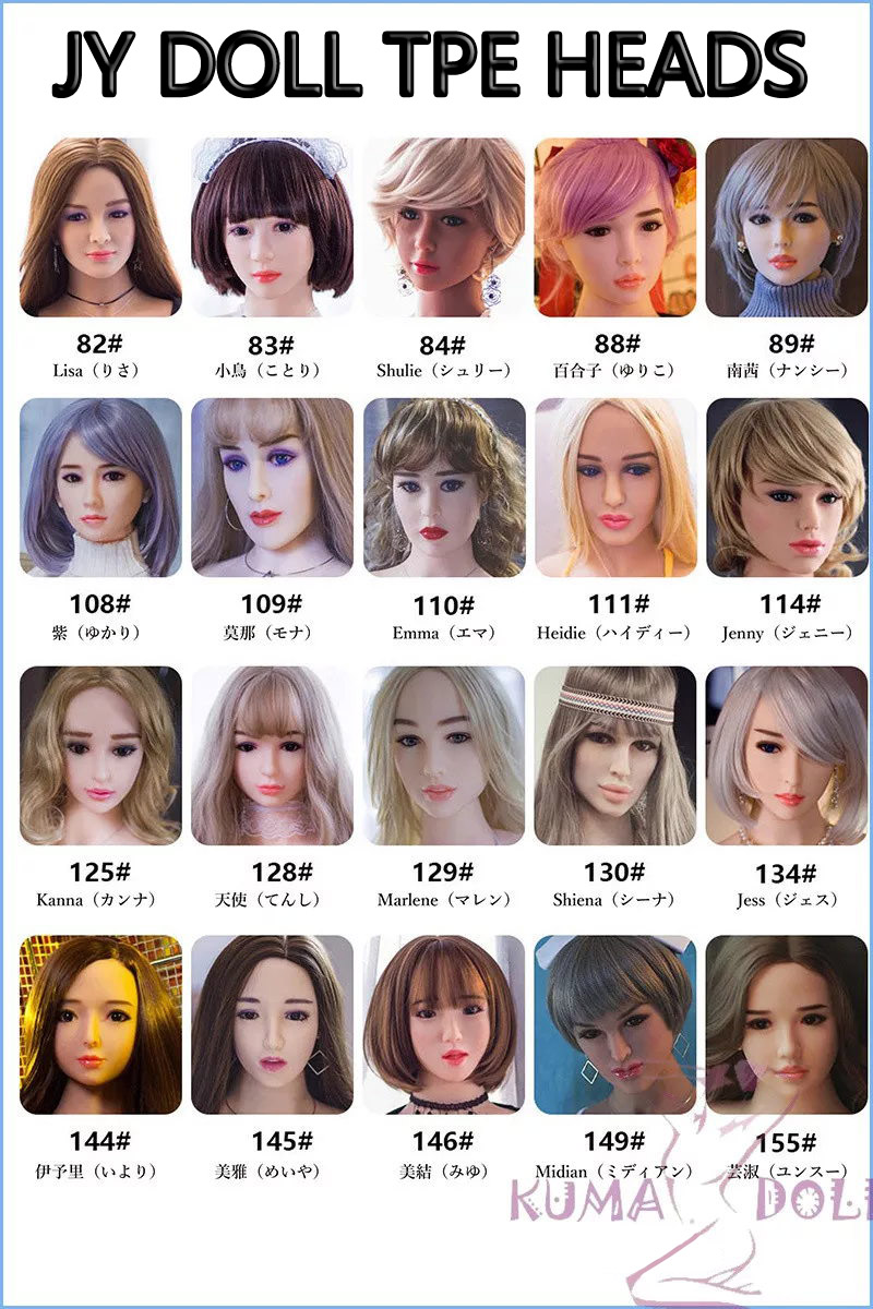 JY Doll TPE Heads Collection Page (TPE head only)
