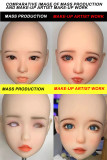 Real Girl Doll A3 TPE head M16 bolt with professional make-up option (big size version)