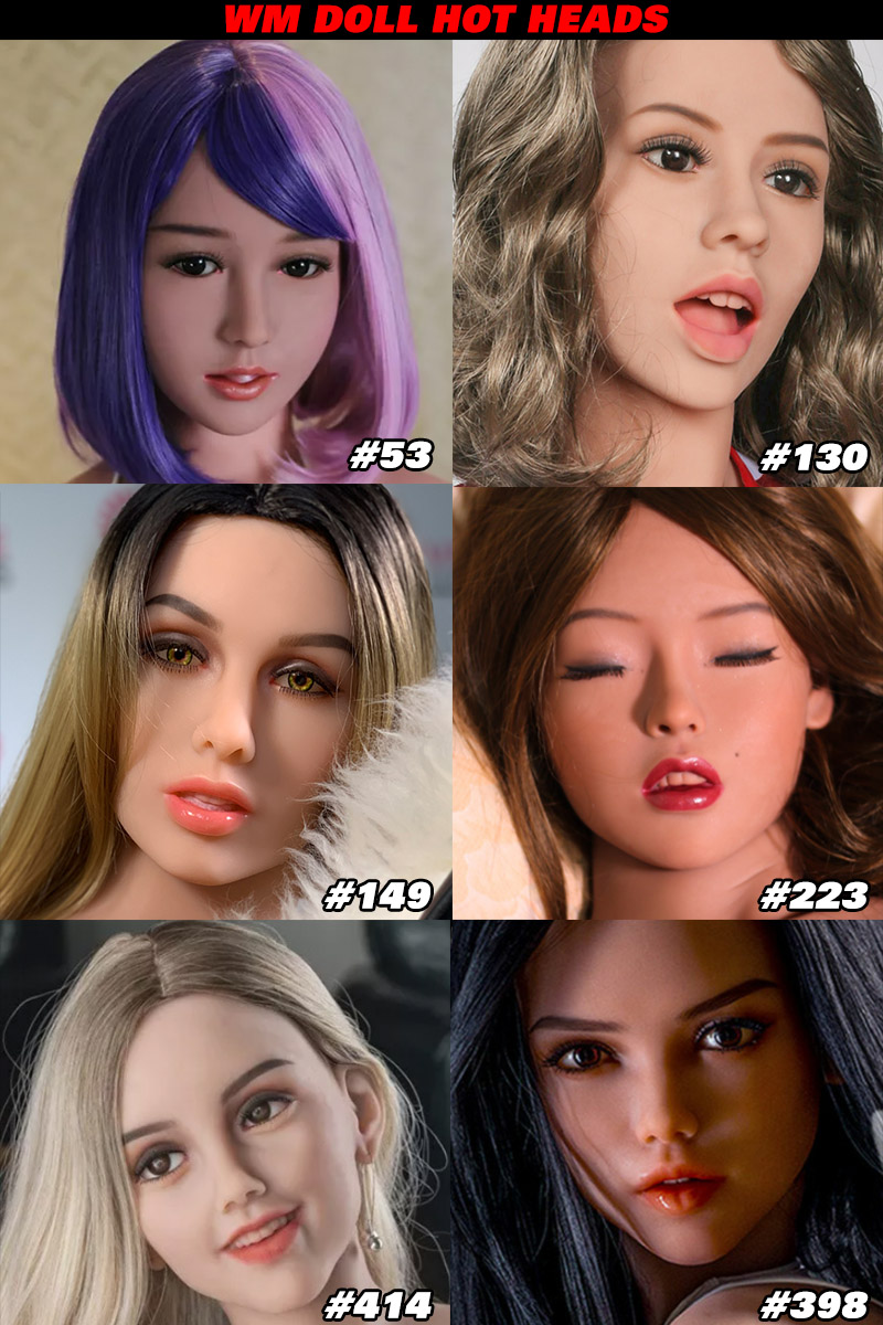 WM Doll TPE Material Sex Doll Heads Collection Page