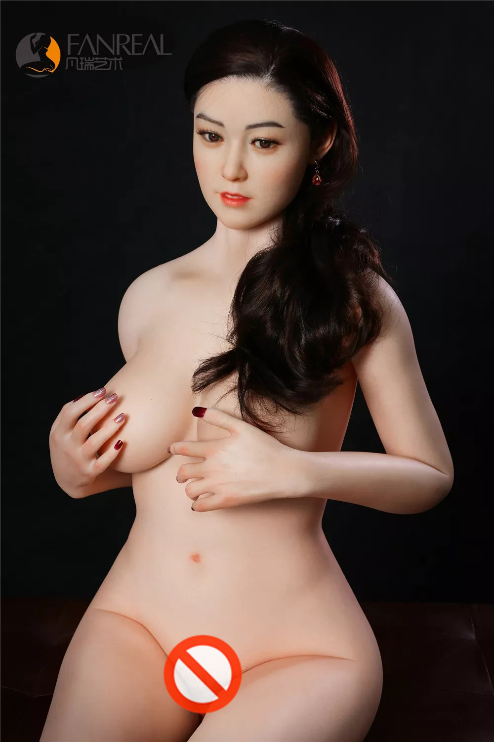 FANREAL 165 cm(5.41 ft) F Cup Full Size Lifelike Sex Silicone Doll with F2 Head