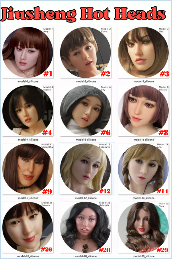 Jiusheng Doll Sex Doll heads Collection Page Material selectable with M16 bolt