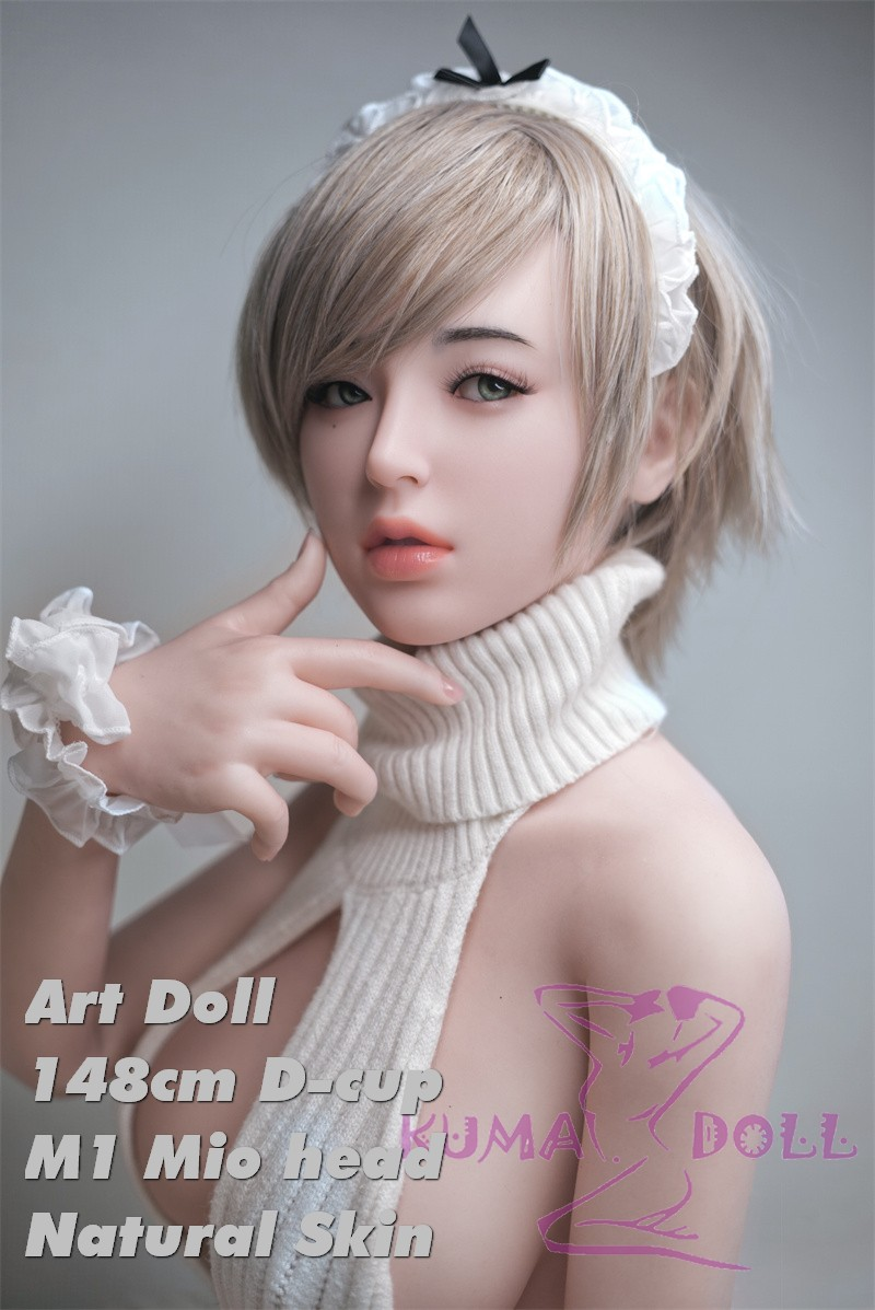 Art Doll Full Silicone Sex Doll 148cm/4ft9 D-cup with M1 Head Mio 19kg body+ M16 bolt