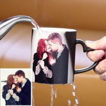 Custom Photo Color Changing Mug with Lettering