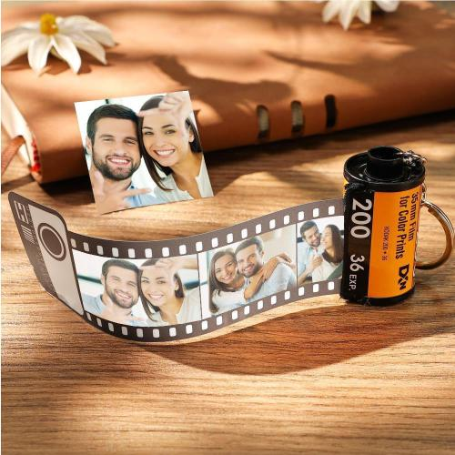 10 Photos Photo Keychain Film Camera Roll Multiphoto Gift
