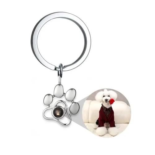 Custom Photo Paw Pendant Keychain Necklace Bracelet