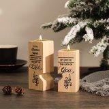 To My Bonus Son Wooden Candlestick Shelf Couple Decoration Gift