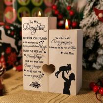 Wooden Candlestick Shelf Daughter Decoration Gift