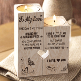To My Love You're My Missing Piece - Candle Holder Candlestick