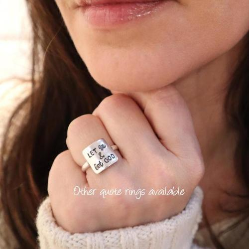 Be Badass Everyday Quote Ring