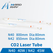 Co2 Laser Tube 40-45W Length:800/850mm Dia80mm for CO2 Laser Engraving Cutting Machine
