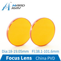 China ZnSe CO2 Focus Lens Dia. 18-19.05mm FL 38.1-101.6mm for Laser Engraving Cutting Machine