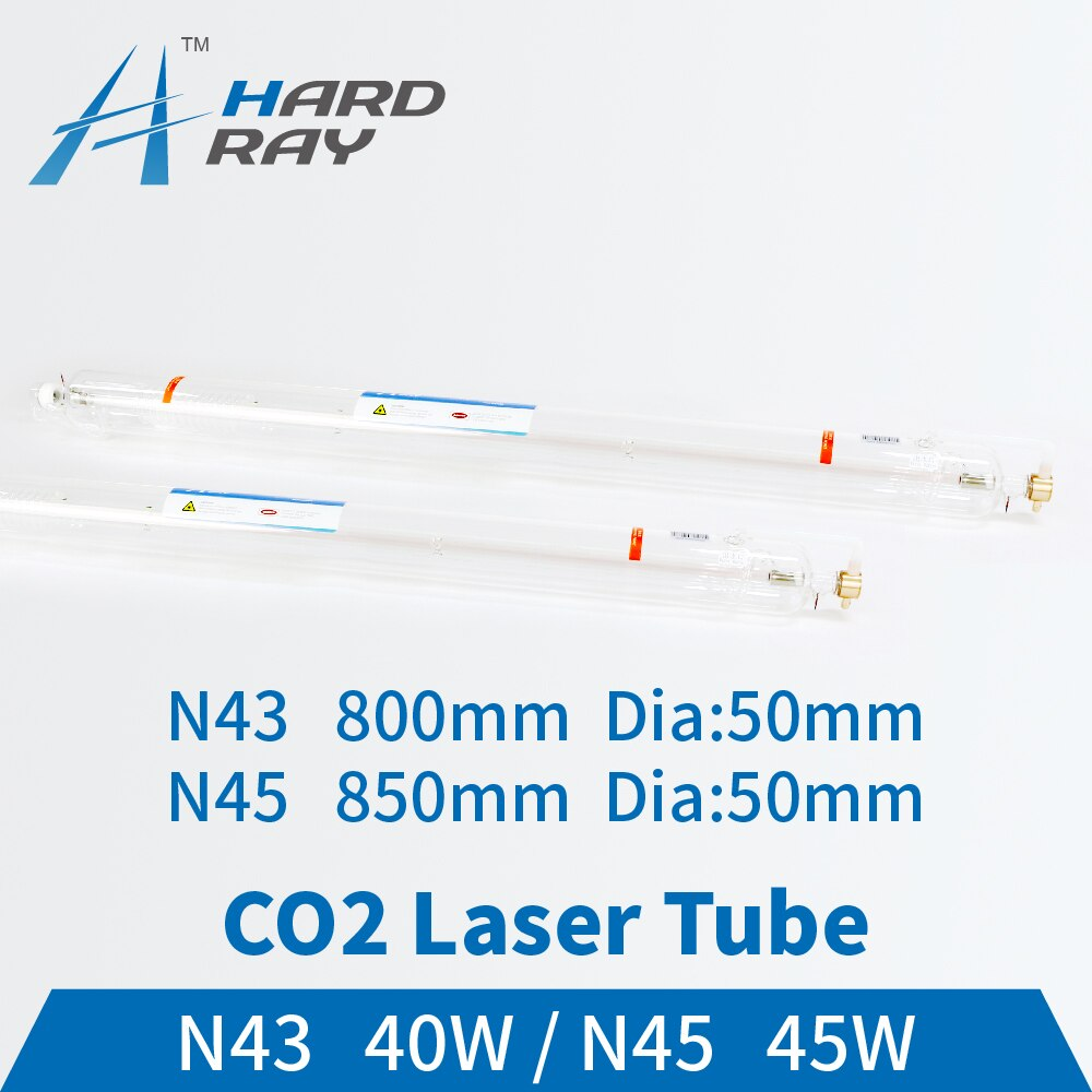 Co2 Laser Tube 40-45W Length:800/850mm Dia50mm for CO2 Laser Engraving Cutting Machine