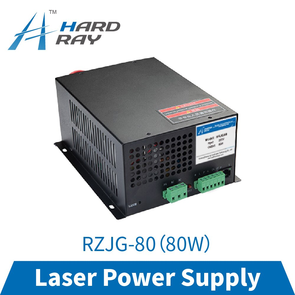 CO2 laser power supply 80W high quality laser cutting machine engraving machine