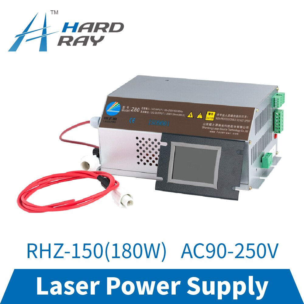 CO2 Laser Power Supply 150-180W Monitor AC90-250V for CO2 Laser Engraving Cutting Machine RHZ-150