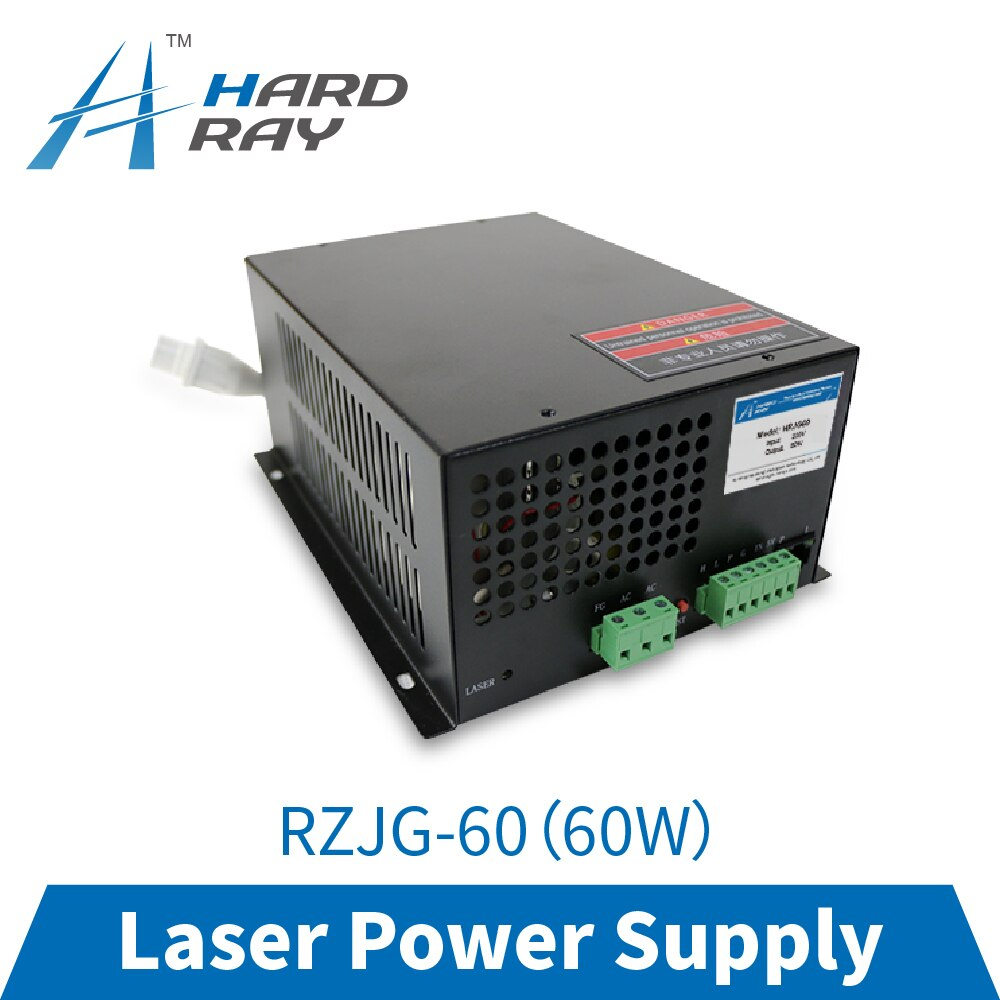 CO2 laser power supply 60W high quality laser cutting machine engraving machine