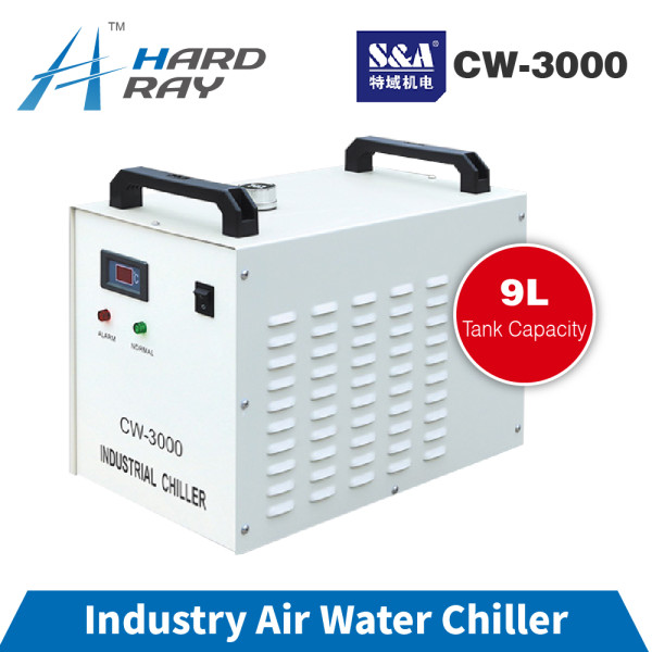 S&A CW3000 Industrial Water Chiller for CO2 Laser Engraving Cutting Machine Cooling 60W 80W Laser Tube