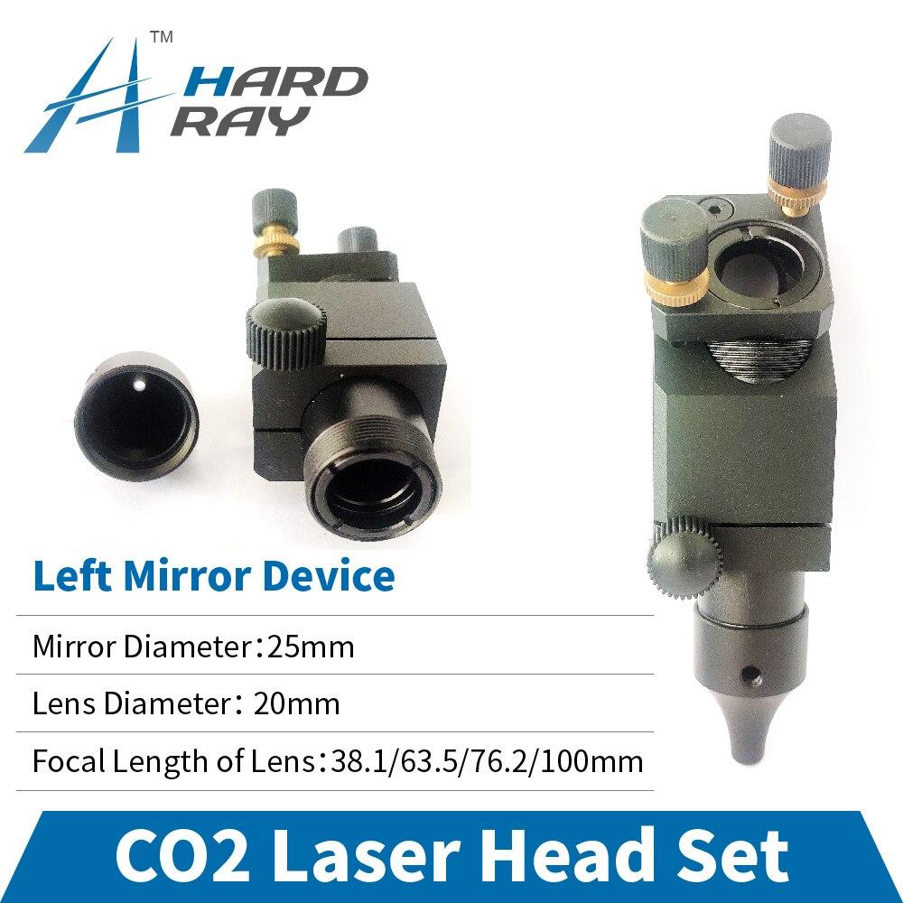 CO2 Laser Head Set / Left Mirror Device Diameter 25 and Lens Diameter 20 FL 38.1/63.5/76.2/100mm
