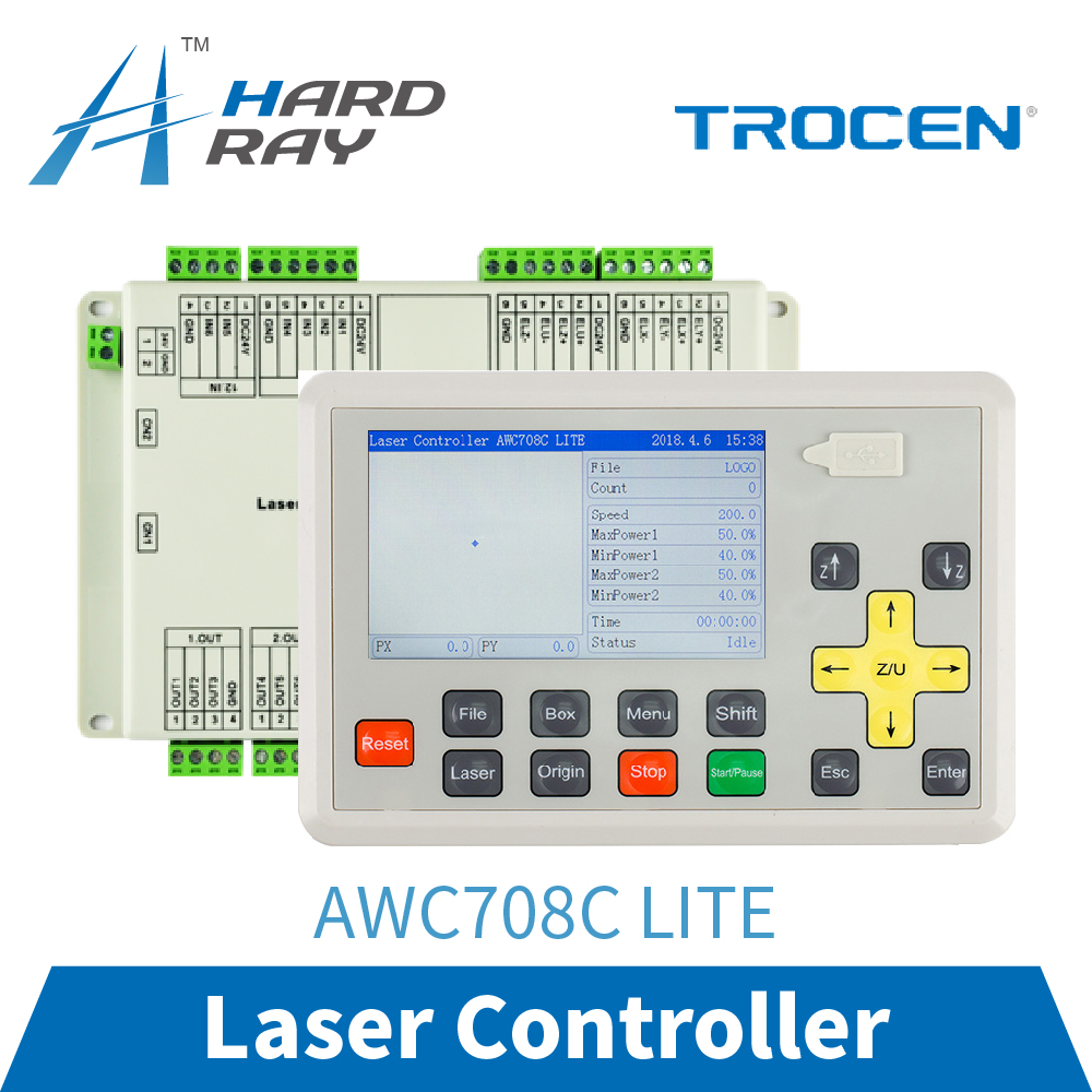 Trocen AWC708C LITE CO2 Laser Controller System for Laser Engraving and Cutting Machine