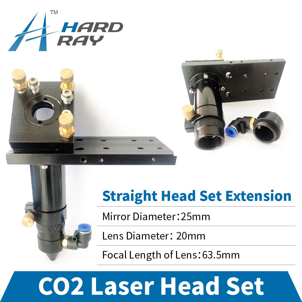 CO2 Laser Head Set / Straight Head Set Extension Diameter 25 and Lens Diameter 20 FL 63.5